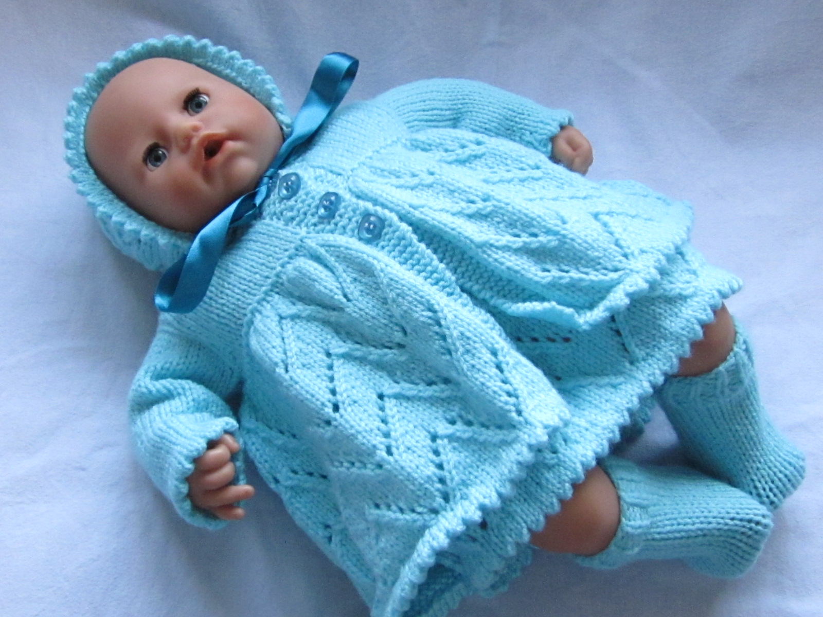 Baby Annabell hand knitted mattinee sets | Tiny Clothing